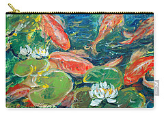 Koi Carry-all Pouch by Alexandra Maria Ethlyn Cheshire