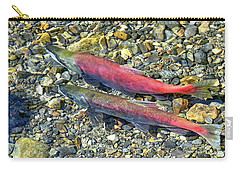 Carry-all Pouch featuring the photograph Kokanee Salmon At Taylor Creek by David Lawson