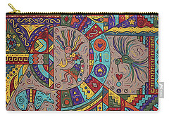 Kokopelli Mandala Carry-all Pouch