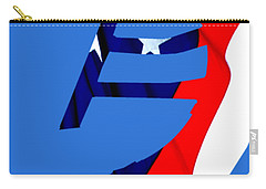 Kokopelli - Patriotic Carry-all Pouch by William Bartholomew