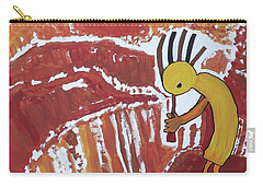 Kokopelli Spring Snow Carry-all Pouch by Don Koester