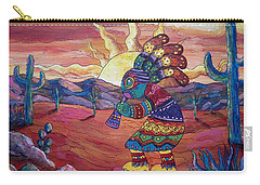 Kokopelli Sunset Carry-all Pouch