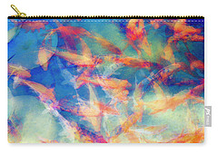 Kolorful Koi Series Carry-all Pouch by Joseph S Giacalone