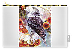 Kookaburra In Red Flowering Gum Carry-all Pouch