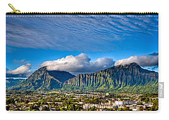 Carry-all Pouch featuring the photograph Koolau And Pali Lookout From Kanohe by Dan McManus