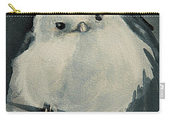 Carry-all Pouch featuring the painting Korean Crow Tit by Jani Freimann