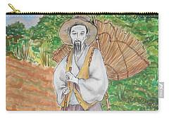 Korean Farmer -- The Original -- Old Asian Man Outdoors Carry-all Pouch