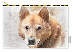 Korean Jindo Portrait Carry-all Pouch
