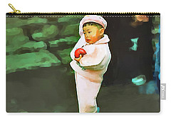 Carry-all Pouch featuring the photograph Korean Pink by Dale Stillman