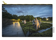 Carry-all Pouch featuring the photograph Korean War Memorial by David Morefield