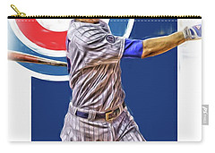 Kris Bryant Chicago Cubs Oil Art Carry-all Pouch by Joe Hamilton