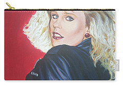Carry-all Pouch featuring the painting Kristi Sommers by Bryan Bustard