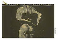 kroki 2014 09 27_4 figure drawing white chalk Marica Ohlsson Carry-all Pouch