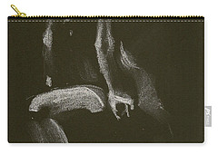 Kroki 2014 10 18_3 Figure Drawing White Chalk Carry-all Pouch