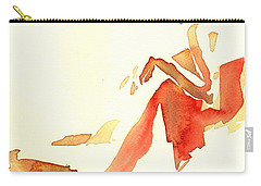 Kroki 2015 03 28_29 Maalarhelg 4 Akvarell Watercolor Figure Drawing Carry-all Pouch