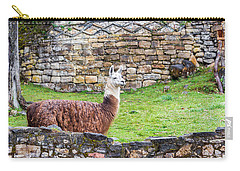 Kuelap Ruins And Llama Carry-all Pouch by Jess Kraft