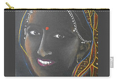 Kumkuma -- Close-up Portrait Of Indian Woman Carry-all Pouch