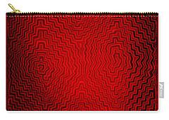 Carry-all Pouch featuring the digital art Kuna Indian Sun Heat Rays by Vagabond Folk Art - Virginia Vivier