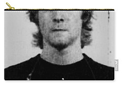 Kurt Cobain Mug Shot Vertical Black And Gray Grey Carry-all Pouch