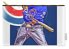 Kyle Schwarber Chicago Cubs Oil Art Carry-all Pouch
