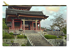 Carry-all Pouch featuring the photograph Kyoto Temple by Corinne Rhode