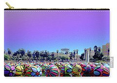 Carry-all Pouch featuring the photograph Los Angeles Glows In The Spheres Of Macarthur Park by Lorraine Devon Wilke