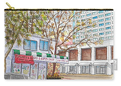 La Bella Flowers, Riverside Dr. And Screenland, Burbank, California Carry-all Pouch by Carlos G Groppa