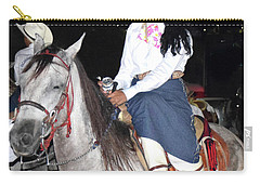 Carry-all Pouch featuring the photograph La Charra by Jim Walls PhotoArtist