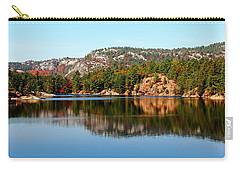 Carry-all Pouch featuring the photograph La Cloche Mountain Range by Debbie Oppermann