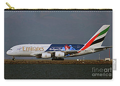 La Dodgers A380 Ready For Take-off At Sfo Carry-all Pouch