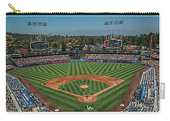Carry-all Pouch featuring the photograph La Dodgers Los Angeles California Baseball by David Haskett