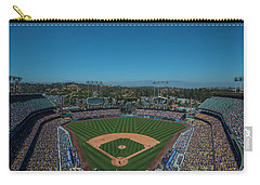 Carry-all Pouch featuring the photograph La Dodgers Stadium Baseball 2087 by David Haskett