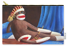 Carry-all Pouch featuring the painting La Grande Sock Monkey by Randol Burns