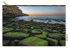 La Jolla Cove Mossy Rocks Sunset Carry-all Pouch