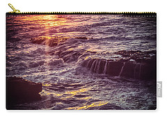 Carry-all Pouch featuring the photograph La Jolla Sunset-color by Samuel M Purvis III
