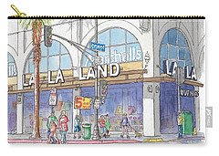La La Land And Marshalls Stores In Hollywood Blvd., Hollywood, California Carry-all Pouch