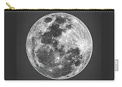 Carry-all Pouch featuring the digital art La Luna by Taylan Apukovska