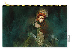 Carry-all Pouch featuring the digital art La Madonna Della Verde by Jack Torcello