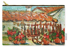 Carry-all Pouch featuring the painting La Mancha by Mindy Newman