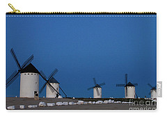 Carry-all Pouch featuring the photograph La Mancha Windmills by Heiko Koehrer-Wagner