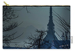 Carry-all Pouch featuring the photograph La Mole Antonelliana-blu by Sonny Marcyan