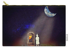 Carry-all Pouch featuring the digital art La Petite Princesse by John Haldane