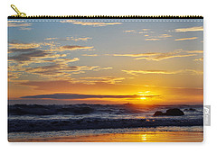 Carry-all Pouch featuring the photograph La Piedra Sunset Malibu by Kyle Hanson