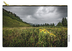 Carry-all Pouch featuring the photograph La Plata Wildflowers by Margaret Pitcher