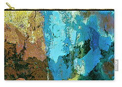 Carry-all Pouch featuring the painting La Playa by Dominic Piperata