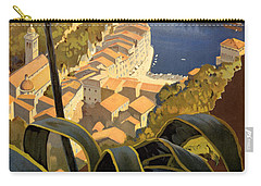 La Riviera Italienne Vintage Travel Poster Restored Carry-all Pouch