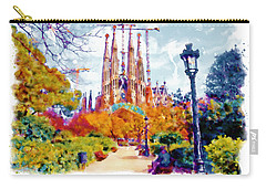 La Sagrada Familia - Park View Carry-all Pouch by Marian Voicu