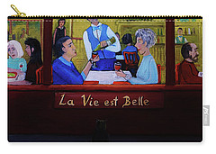 La Vie Est Belle Carry-all Pouch by Reb Frost