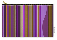 Large Purple Abstract - Two Carry-all Pouch