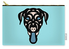 Labrador Dorianna - Dog Design - Island Paradise, Pale Dogwood,  Niagara Blue Carry-all Pouch